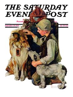 """Making friends"" or ""Raleigh Rockwell"" Saturday Evening Post Cover, September 28, 1929"