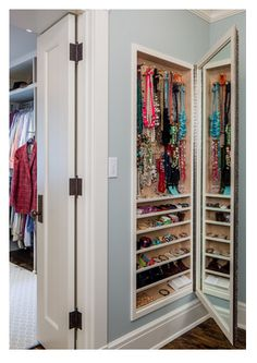 #DesignIdea: Have an empty wall in your Master closet, Homeowners? Incorporate a built-in accessory nook between the studs!