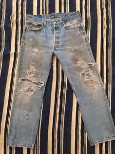Vintage Distressed Levis 501xx Size by BareknuckleBoutique on Etsy