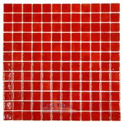 Mosaic Glass Tile by Vidrepur Glass Mosaic Deco Collection Recycled Glass Tile Mesh Backed Sheet in Intense Red   - ( VID-36997 )
