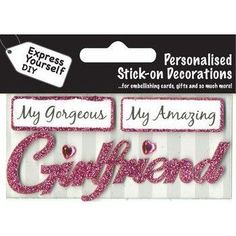 Girlfriend (Pink) - Handmade Personal Captions - Express Yourself DIY Listing in the Toppers,Scrapbooking & Cardmaking,Crafts, Handmade & Sewing Category on eBid United Kingdom | 147780582