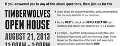 Timberwolves Open House Splash Page - Middle