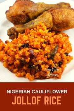 Enjoy the delectable taste of this Nigerian Cauliflower Jollof Rice without the carbs! Wheat Free Recipes, Rice Recipes, Low Carb Recipes, Carribean Food, Jollof Rice, Nigerian Food, Whole 30 Recipes, Lchf, Meals