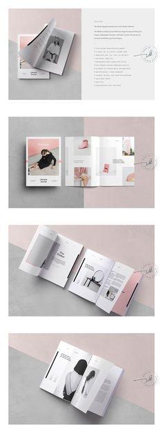 Phoebe Fashion Magazine Template - My Original Ideas Portfolio Layout, Portfolio Design, Editorial Layout, Editorial Design, Brochure Design, Branding Design, Brochure Layout, Identity Branding, Corporate Brochure