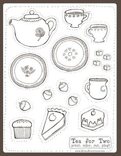 printable tea party - Bing Images