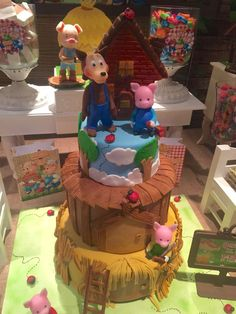 What a great cake at a three little pigs birthday party! See more party ideas at CatchMyParty.com!