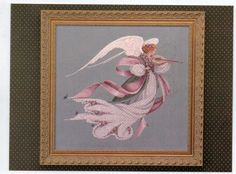 "Cross Stitch Chart ""Angel of Spring"" Lavender and Lace L & L 23 by Marilyn Leavitt-Imblum Angel Series. $10.95, via Etsy."