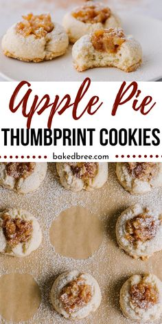 Apple Pie Thumbprint Cookies