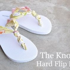 I'm going to make these for my daughter! The rubber flip flops her her feet and this is a great way for me to make her flip flops she likes!