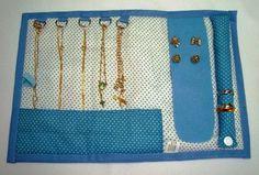 bolsa carteira porta joias de tecido