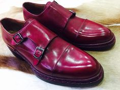 7409245d9f03 MURAT ERBAS Norwegian Style Goodyear Welted Double Monkstraps in Burgundy. Murat  Erbas Handcrafted Shoes
