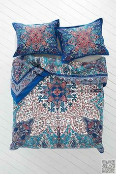 Plum & Bow #Dandeli Medallion #Duvet Cover,BLUE,FULL/QUEEN