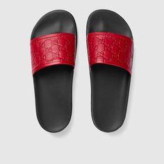 67fcbf68569bf Gucci Signature slide sandal Sport Sandals