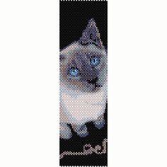 Siamese Cat 2 Blue Point Peyote Bead Pattern by SmartArtsSupply