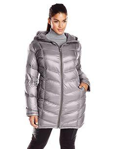 U.S. Polo Assn. Women's Long Self Belt Puffer Coat, New Grey ...