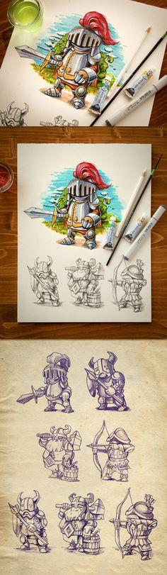 Character design | 2012-2013 by Mike, via Behance