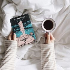 We Are Okay, a novel by Nina LaCour Book Flatlay, Tumblr Bff, Poses References, Flatlay Styling, Coffee And Books, Book Aesthetic, Girl Photo Poses, Book Photography, Book Cover Design