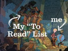 "My ""to read"" list. ~~ Hey look! There's a picture of me in my house on the internet!!! Lol!"