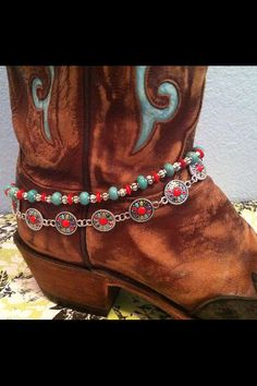 Boot Bling Jewelry/Boot Candy/Boot Anklet Boho by BootafullBling, $18.00