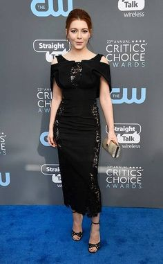 Elena Satine, known for her role in the Gifted, wore a nice black dress at the 2018 Critics' Choice Awards
