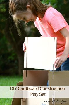 DIY Cardboard Construction Play Set. Make forts, trains, or boats -- lots of imaginative potential! (via Inner Child Fun)