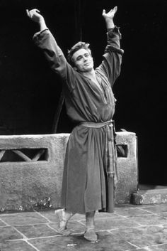 """James Dean on Broadway in """"The Immoralist"""". 1954."""