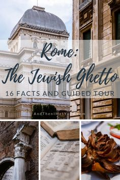 """16 Interesting things I learned about the Jewish Ghetto in Rome - A Visual Travel Guide. Travel photography and guide by © Natasha Lequepeys for """"And Then I Met Yoko"""". Verona Italy, Puglia Italy, Rome Italy, Venice Italy, Rome Travel, Italy Travel, Paris Travel, Jewish Ghetto, Paris Itinerary"""