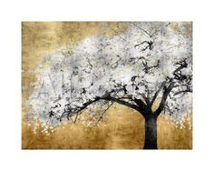 Silver Blossoms Landscapes Giclee Print - 51 x 41 cm