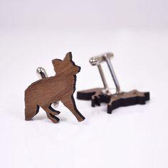 Timber Fox Cufflinks - A skulk of foxes