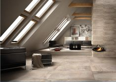 Blending the durability of porcelain with the beauty of natural stone, the ONTARIO RANGE combines the very best characteristics of natural slate and split sandstones to create a distinctive look for your home. Under Construction, Slate, Natural Stones, Ontario, Porcelain, Living Room, Range, Beauty, Hu Ge