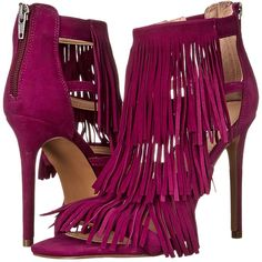 In shoe luv with my new magenta heels! - #addittomycollection Get Fringe Benefits with Sexy Steve Madden Stiletto Heels
