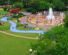 Coolidge Park, Chattanooga, TN on banks of the Tennessee River.not shown in photo is a wonderful carousel. Chattanooga Attractions, Downtown Chattanooga, Chattanooga Tennessee, Nashville, Visit Tennessee, Tennessee River, Tennessee Whiskey, Tennessee Vacation, Coolidge Park