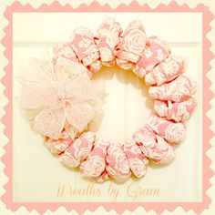 pink floral wreath; aesthetic pink; mothers day gifts; floral wreath; mother in law gift; over the bed wall decor; above bed decor; bedroom wall decor; shabby chic decor; shabby chic bedrooms; cottage bedroom; grandma gifts; ribbon wreath; wreaths; wreaths for front door; bathroom decor ideas; birthday gifts for best friend; entryway ideas; entryway decor; get well gift ideas; thinking of you; cozy bedroom; boho chic bedroom; pink bathroom decor #wreaths #giftideas #mothersday