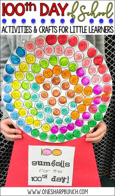 Celebrate the 100th Day of school with these engaging 100th Day of School ideas and this adapted 100th Day of School gumball machine!