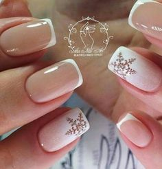 French. Neutral. Snowflakes.