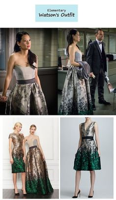 """On the blog: Joan Watson's (Lucy Liu) floral ombre ball gown 