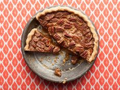 Best Thanksgiving Desserts - The Pioneer Woman's Pecan Pie  Get more Thanksgiving dessert recipes, including pumpkin cake, pumpkin cheesecake, apple pie and pecan pie, from Food Network.  #Thanksgiving #ThanksgivingFeast #Dessert