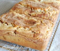 Snickerdoodle Cinnamon Bread- some of the yummiest quick bread you will ever taste!