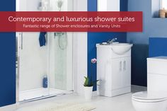 Contemporary and luxurious shower suites. The affordable way to transform your bathroom is with a carefully crafted. shower enclosure, and modern bathroom furniture. Shower Suites, Vanity Units, Shower Enclosure, Bathroom Furniture, Modern Bathroom, The Unit, Cabinet, Contemporary, Luxury