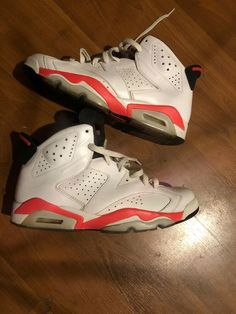 buy popular 01071 60137 Nike Air Jordan VI 6 Retro WHITE INFRARED 9.5  fashion  clothing  shoes   accessories  mensshoes  athleticshoes (ebay link)