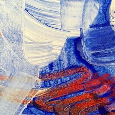 More layers: it's about interaction, listening to brush strokes, letting textures play  #abstractart #oksanaprokopenko