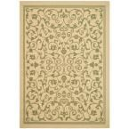 Courtyard Natural/Olive (Natural/Green) 6 ft. 7 in. x 9 ft. 6 in. Indoor/Outdoor Area Rug