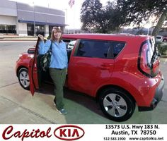 Love my new red Kia Soul. This is my second Soul. Love them. - VALERIE BLACKWELL, Wednesday, November 26, 2014 http://www.capitolkia.net/?utm_source=Flickr&utm_medium=DMaxx_Photo&utm_campaign=DeliveryMaxx