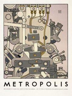 Metropolis Movie Poster by David Lance Goines