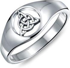 Pentagramme celtique Star .925 Sterling Silver Ring Taille 4-11