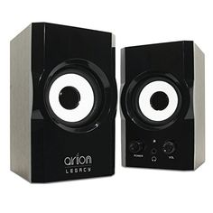 Arion Legacy AR302 AC 2.0 Laptop Speakers 12 Watts, Small -- Click on the image for additional details. (This is an affiliate link) #HashTag3