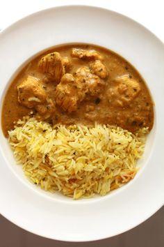 Indiase kip korma met rijst