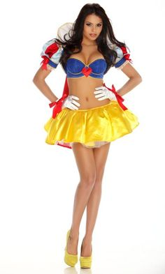 Snow White Costume Dress Adult Womens Disney Princess Snowwhite S 4-6 M 8-10