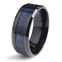 Wallmart.win 8mm Black Dragon blue carbon fiber wedding rings for women 316L Stainless Steel men jewelry wholesale: Vendor: Wallmart Type:…