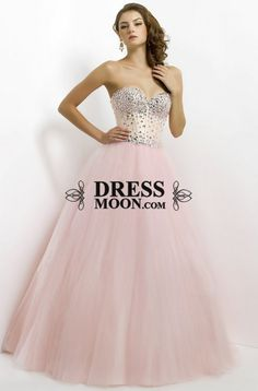 LOVE the style of this so much!! Not sure about the colour though // Ball Gown Sweetheart Tulle with Beading Prom Dress